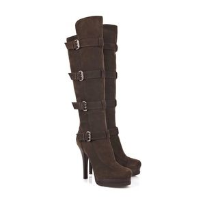 Fendi Love Story Suede Boots